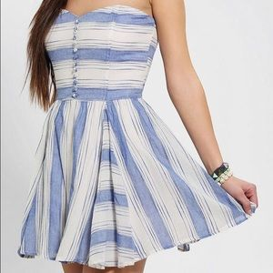 Urban Outfitters Luca Couture Strapless Dress